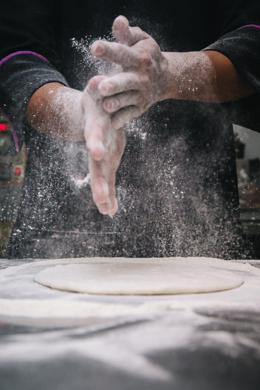 baked baking chef dough
